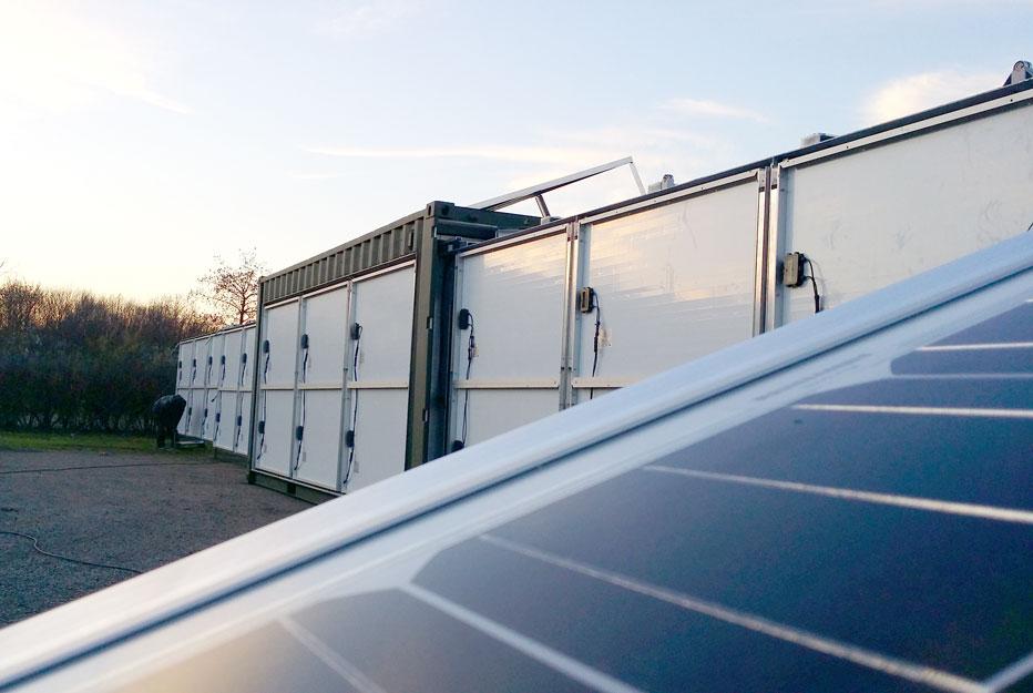 container generatrice solaire
