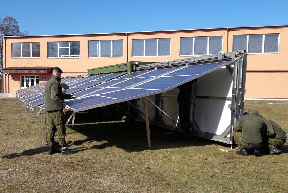 mobil watt container production énergie solaire