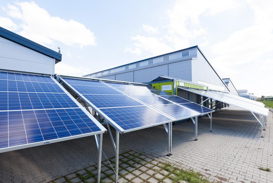 gerador solar em contentor