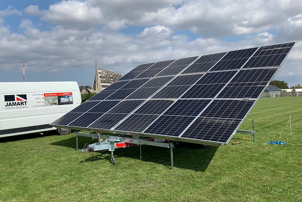 Solar trailer rent event