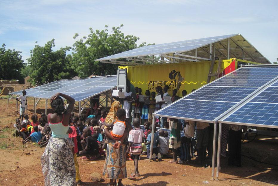 eletrificação aldeia energia solar