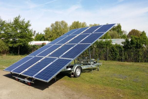 remorque solaire batterie