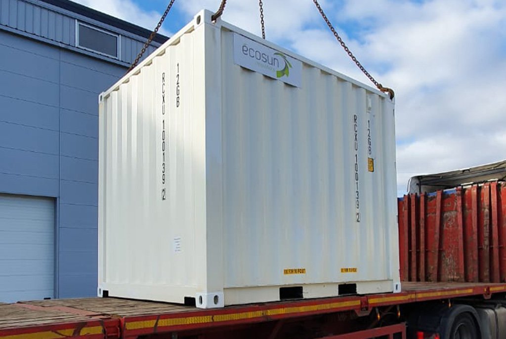 solar and storage container