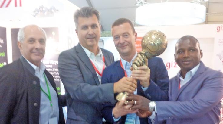 Remise du prix Energy Globe Award à Ecosun