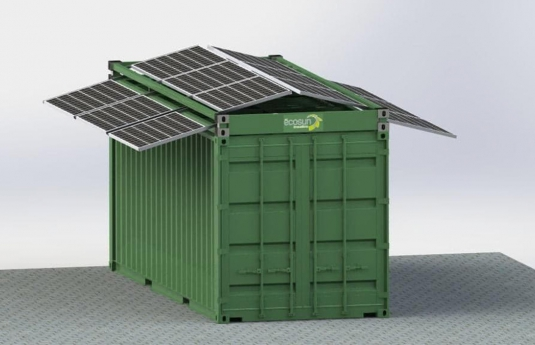 solar frame on container