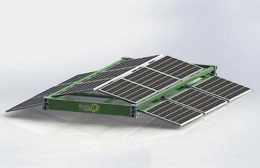 Cadre solaire pour container