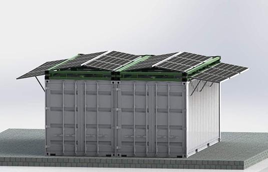 panneaux solaires pour container