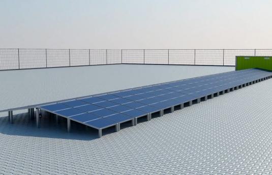 fotovoltaico  contenedor solar ecosun