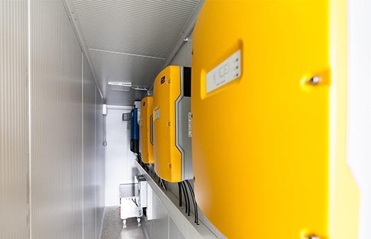 centrale solaire photovoltaïque container