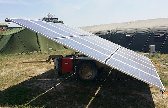 trailer solar Trailer-Watt military version
