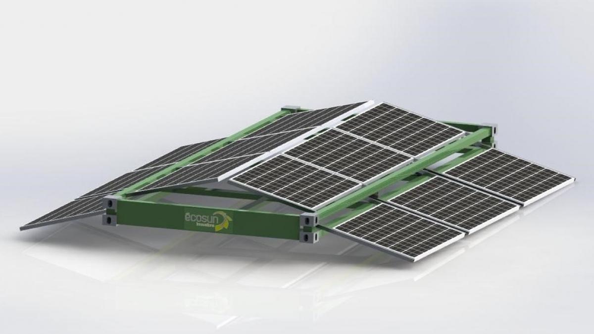 Cadre solaire Frame-Watt® sur container ou bungalow