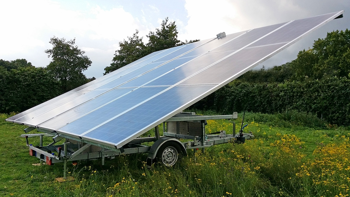 Rental Trailer-Watt® solar panels trailer