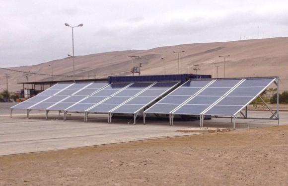 solar generator pumping station
