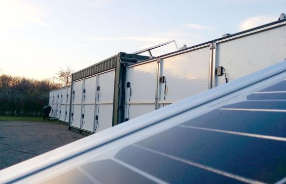 solar generator container