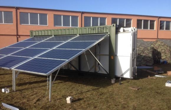 Solargenerator im Container Mobilität