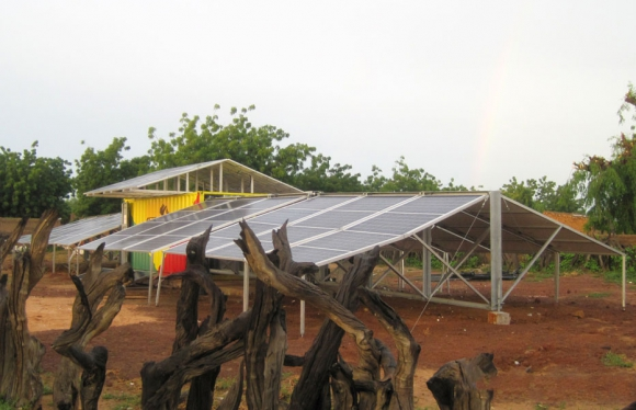 providing electricity isolated area solar power