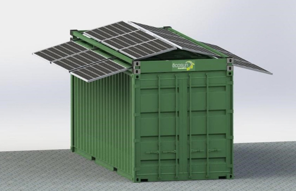 photovoltaic frame container
